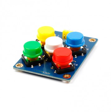 ADC keyboard analog 5 channel button sensor for Arduino