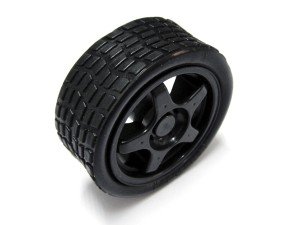 65mm Elastic Rubber Wheels for Mobile Robot Car