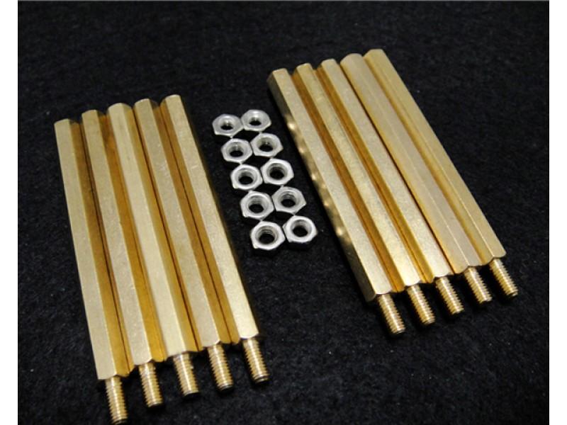 10 Sets M3 * 50 Hexagonal Standoffs Mounting Standard Kit