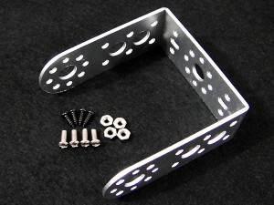 "Aluminum Long ""U"" Servo Bracket--Silver"