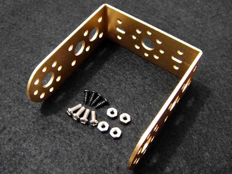 """Aluminum Long """"U"""" Servo Bracket--Gold"""