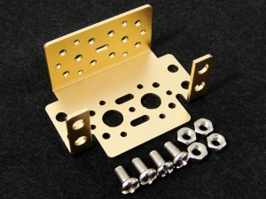 Aluminum Multi-Purpose Servo Bracket Kit - Gold