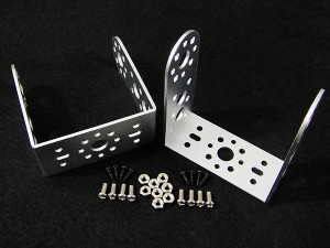 "Aluminum Long ""U"" Servo Bracket--Silver(2 pcs)"