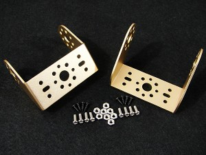 Aluminum Offset Servo Bracket Two Pack - Gold