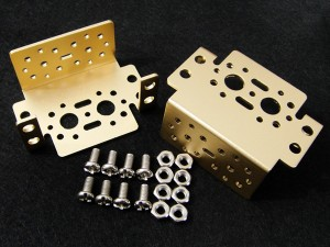 Aluminum Multi-Purpose Servo Bracket - Gold