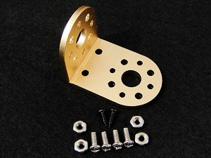 "Aluminum ""L"" Connector Bracket Kit--Gold"