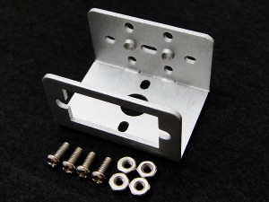 Mini Aluminum Multi-Purpose Micro Servo Bracket - Silver
