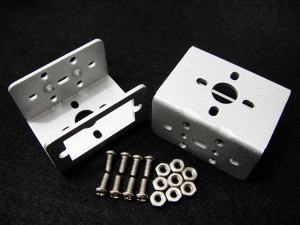 Mini Aluminum Multi-Purpose Servo Bracket - Silver