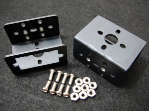 Mini Aluminum Multi-Purpose Servo Bracket - Black