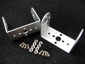 """Mini Aluminum """"U"""" Micro Servo Bracket--Silver(2 pcs)"""