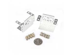 Aluminum Multipurpose Servo Bracket Kit-Silver