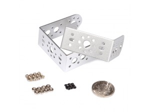 "Aluminum Long ""U"" Servo Bracket Kit - Silver"