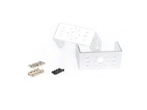"Aluminum Short ""U"" Servo Bracket Kit -Silver"