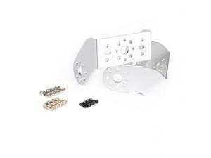 "Aluminum Offset ""U"" Servo Bracket Kit -Silver"