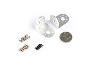 "Aluminum ""L"" Shape Bracket Kit -Silver"