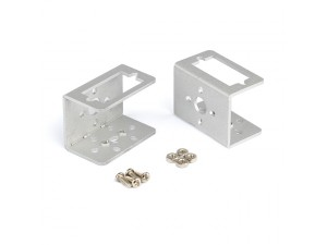 Aluminum Mini Servo Bracket Kit - Silver
