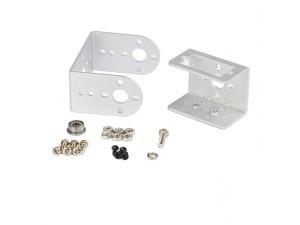 Pan and Tilt with Mini Servo Bracket Kit - Silver