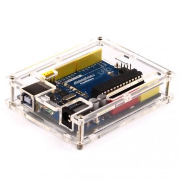 Arduino Uno Rev3 Enclosure - Clear Plastic