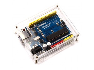 Arduino Uno Rev3 Enclosure - Clear Plastic