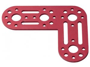 Aluminum L Connector Bracket (Burgundy)