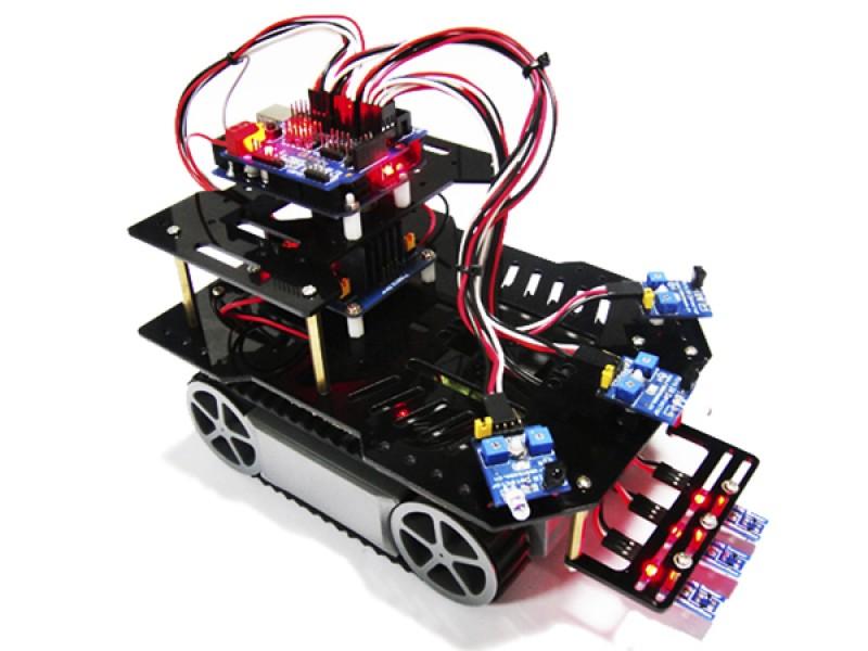 AS-RP5 Patrol Obstacle Avoidance Mobile Car DIY Robot Kit