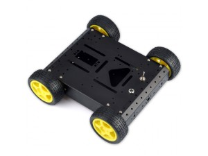 4WD Robotic Aluminum Mobile Car Chassis--Black