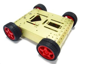 4WD Aluminum Mobile Robot Car - Golden
