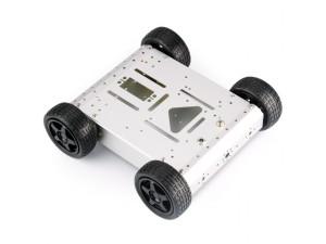 4WD Aluminum Mobile Robot Car - Silver