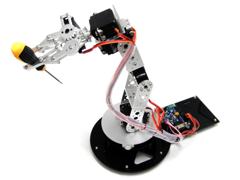 AS-6DOF Aliminium Robotic Arm--without Electronic Control System