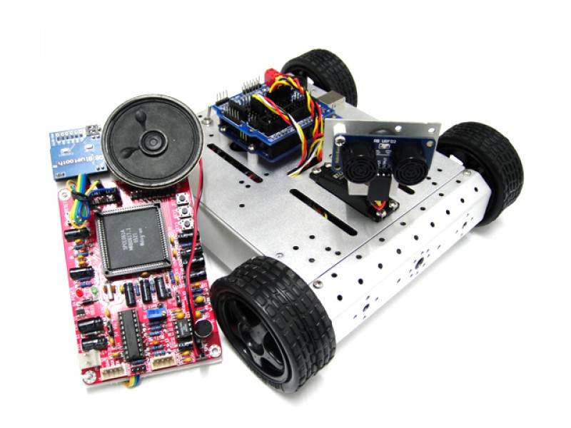 4WD Mobile Robot Car Kit with Voice Recognition System