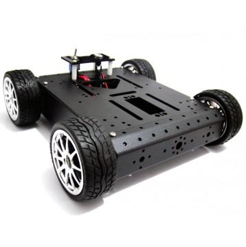 4WD Robotic Aluminum Mobile Car Platform (12V 100R)