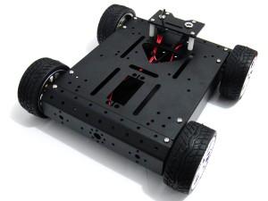 4WD Aluminum Mobile Robot Car( 6V/ 300R)