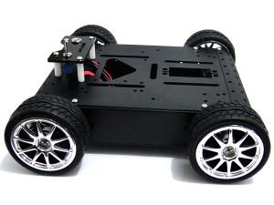 4WD Aluminum Mobile Robot Car(12V/200R)