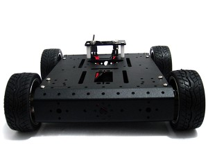 4WD Robotic Aluminum Mobile Car Platform (12V 100R)