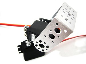 2 DOF RB-65PG Pan and Tilt Kit with Aluminum Long U Servo Bracket (silver)