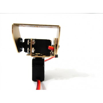 2 DOF RB-150MG Pan and Tilt Kit with Aluminium Offset Servo Bracket (gold)
