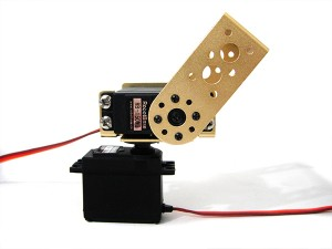 2 DOF RB-150MG Pan and Tilt Kit with Aluminum Long U Servo Bracket(gold)