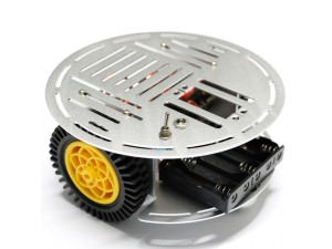 AS-2WD Aluminium Mobile Robotic Car Platform(Servo Motor)