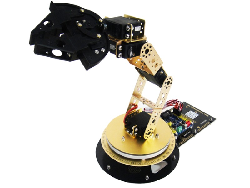 AS-6DOF Aluminium Robotic Arm without Control System-Gold
