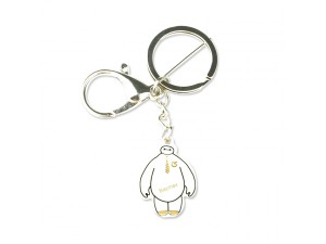 American Movie Big Hero 6 White Baymax Keychain PCB Lover Gift Keyring